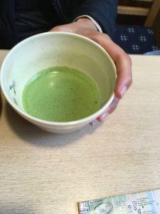 Groene thee.